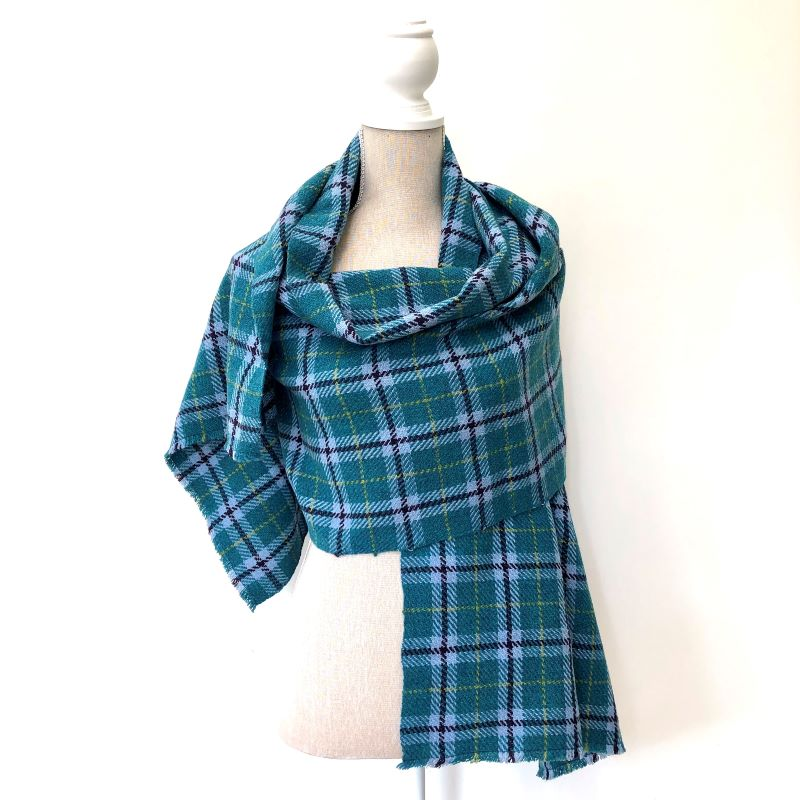 Tartan Yourself Up Wrap - jade