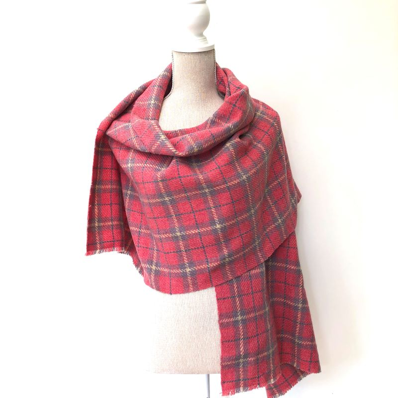 Tartan Yourself Up Wrap - pink